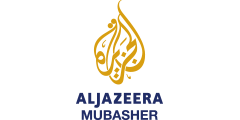 Al Jazeera Mubasher (AJMUB) international channel logo